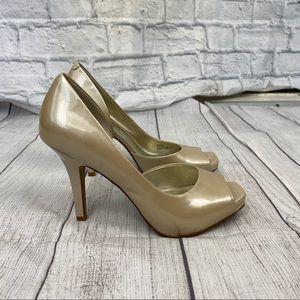 Jessica Simpson open toe heels off white sz 6.5